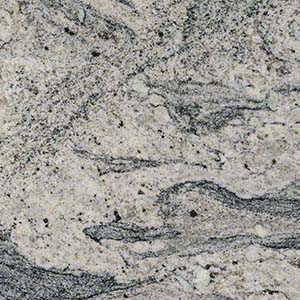 White Wave Granite backsplash